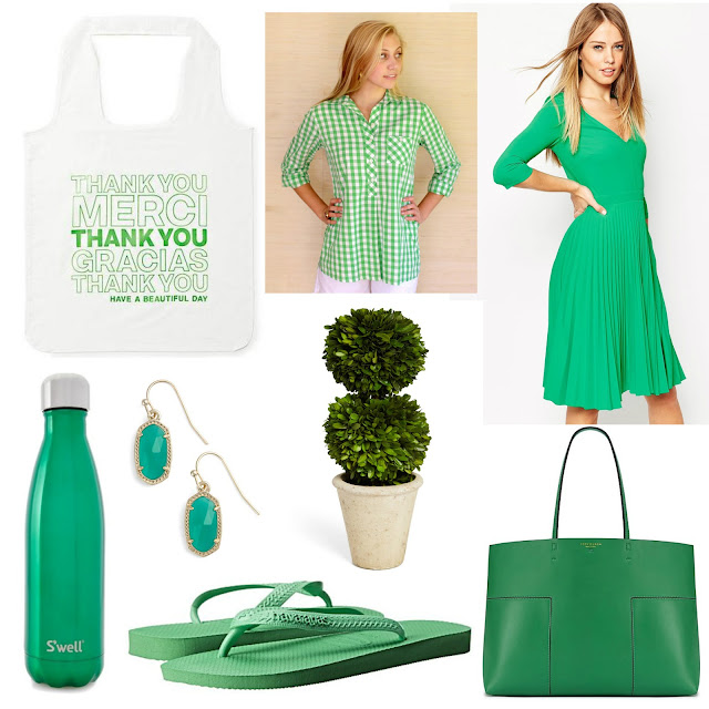 green st patricks day preppy blogger kate spade kendra scott tory burch gingham shirt green pleated dress