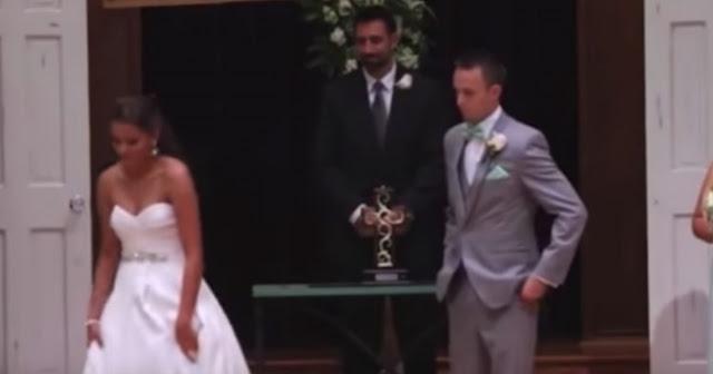 Ο γαμπρός βλέπει τη νύφη να φεύγει, και μένει άναυδος. Τώρα, κοιτάξτε τα χέρια της! (ΒΙΝΤΕΟ)