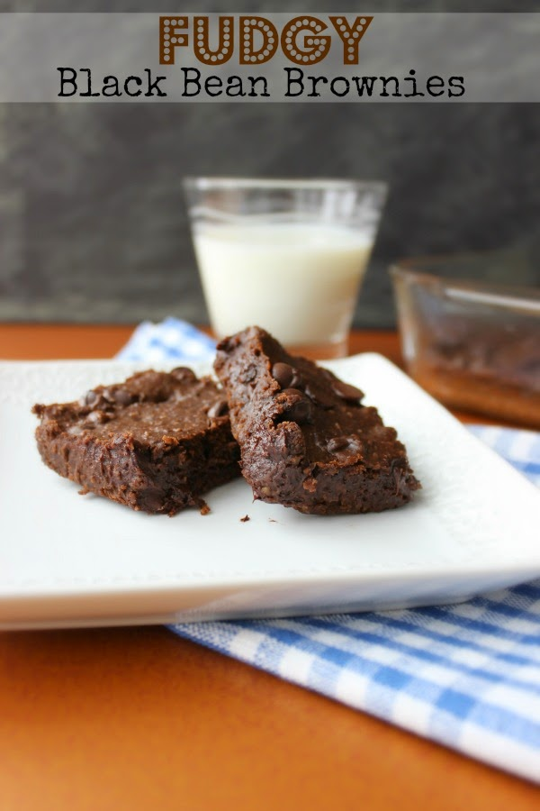 Fudgy Black Bean Brownies on a plate