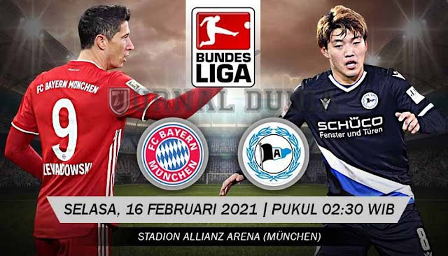 Prediksi Bayern Munich vs  Arminia Bielefeld , Selasa 16 Februari 2021 Pukul 02.30 WIB