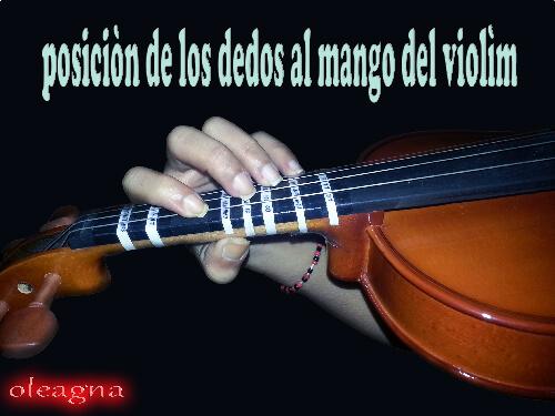 posición de los dedos en el violin