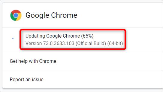 يبدأ Google Chrome في التحديث