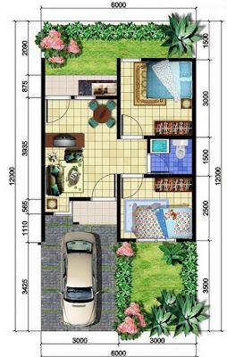 contoh denah rumah tinggal minimalis