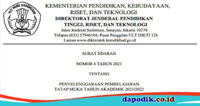 SE PTM No. 4 Tahun 2021
