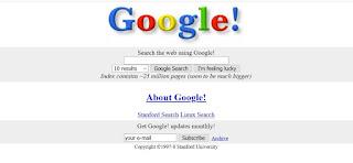 Google Recherche en 1998