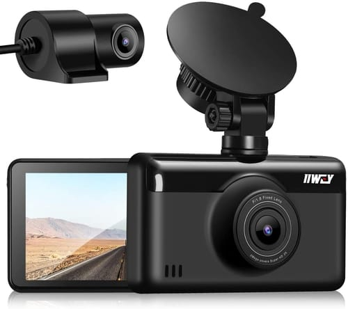 Review iiwey 2K Dash Cam Front and Rear