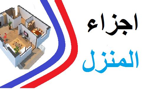 اجزاء المنزل باللغة الفرنسية