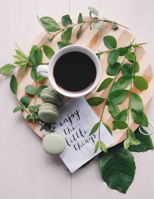 Enjoy the Little Things - Coffee and Macarons | Photo by Brigitte Tohm via Unsplash