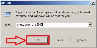 Command hẹn giờ tắt máy tính trên Windows