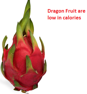 Dragon Fruit are low in calories