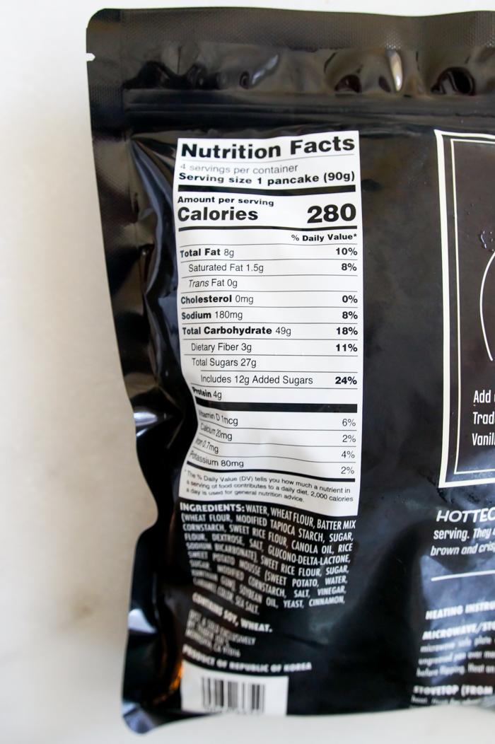 Trader Joe's Sweet Cinnamon Filled Korean Pancakes Nutrition Information