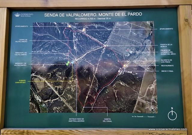 senda de Valpalomero en Monte de El Pardo