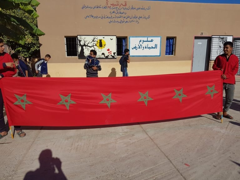 تيزنيت : أزيد من 800 تلميذ و تلميذة يخلدون ذكرى المسيرة الخضراء بالثانوية الاعدادية الامام مالك