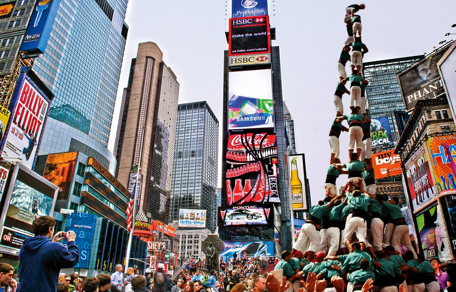 Human Towers in New York