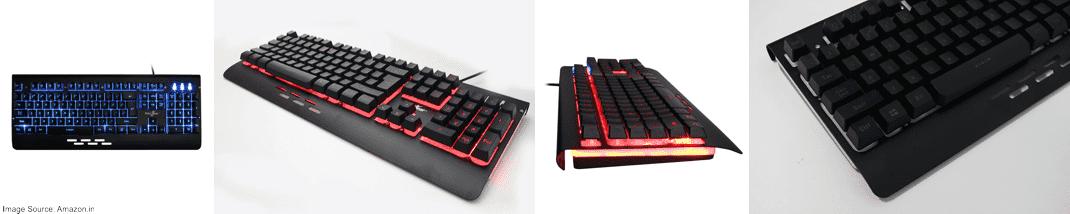 Redgear Blaze 3 Color Backlit Gaming Keyboard (Full Aluminum Body & Windows Key Lock)