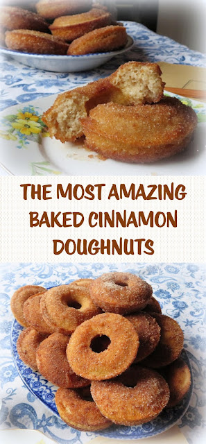 THE MOST AMAZING BAKED CINNAMON DOUGHNUTS