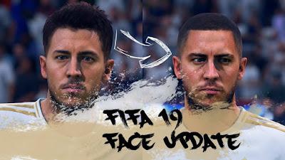 FIFA 19 Faces Eden Hazard by CrazyRabbit