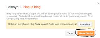 contoh gambar ketika menghapus blog dengan cepat