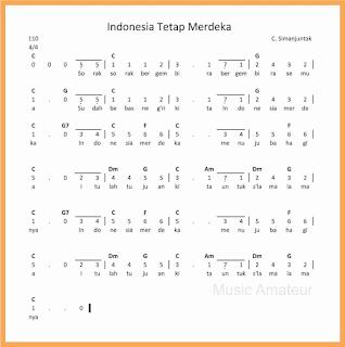 not angka lagu indonesia tetap merdeka lagu wajib