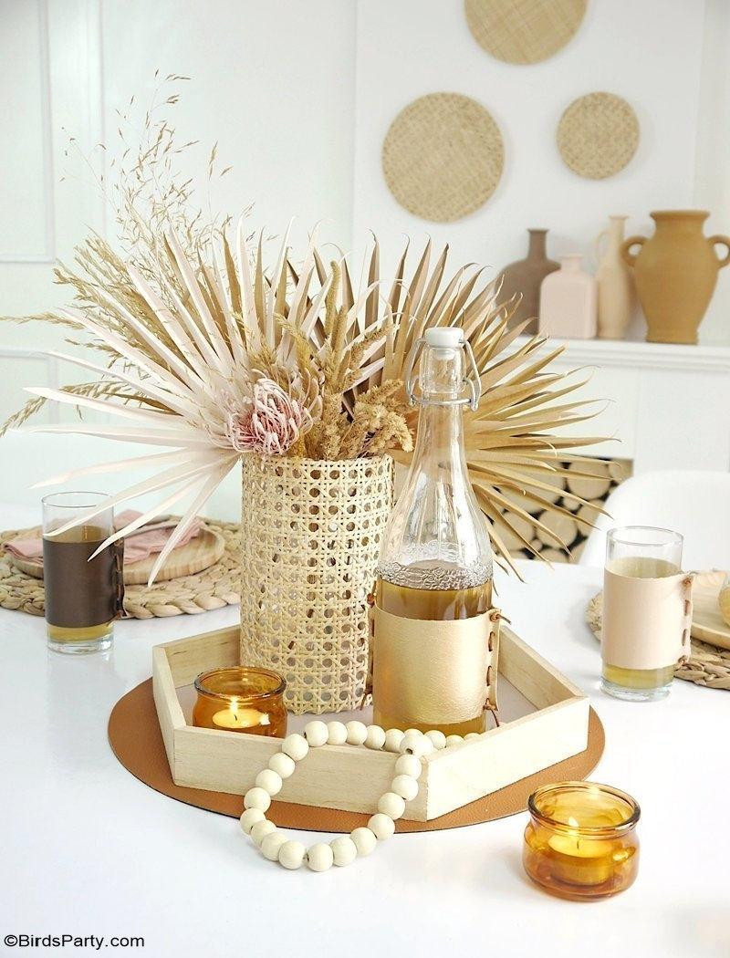 Décorations DIY pour une Table Bobo Scandinave - des projets d'artisanat faciles et peu coûteux et des idées de recyclage pour dresser une table bobo!