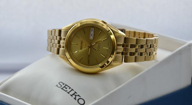 đồng hồ Seiko nam mạ vàng