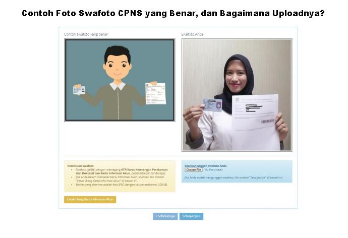 Contoh Foto Swafoto CPNS yang Benar, dan Bagaimana Uploadnya?