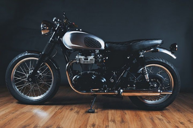 Kawasaki 650 độ Brat Style