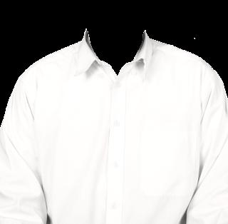 Preview template kemeja putih transparan polos lengan panjang