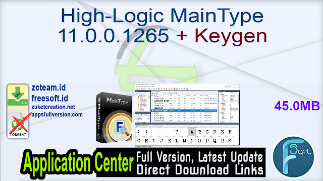 High-Logic MainType 11.0.0.1265 + Keygen_ ZcTeam.id