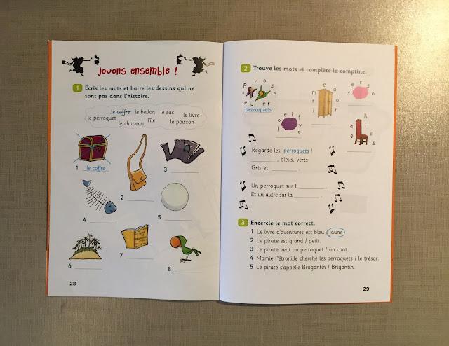 """Recenzje #184 - """"Mamie Pétronille et le pirate"""" - przykładowe ćwiczenia - Francuski przy kawie"""