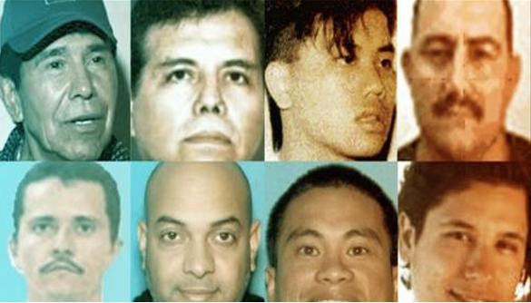 Lista del Top 10 de los capos mas buscados por la DEA