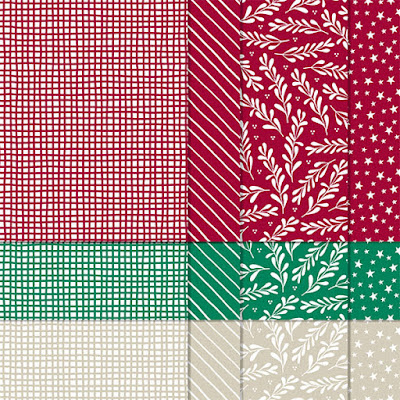 "Prints from the Classic Christmas 6"" X 6"" Designer Series Papers from Curvy Celebrations promotion"