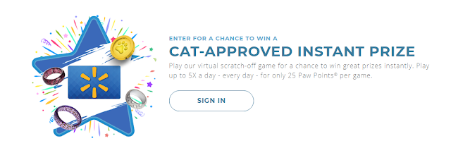 You can visit and play Fresh Step's online virtual scratch-off game FIVE TIMES EACH DAY for the chance to win great cat themed prizes instantly!
