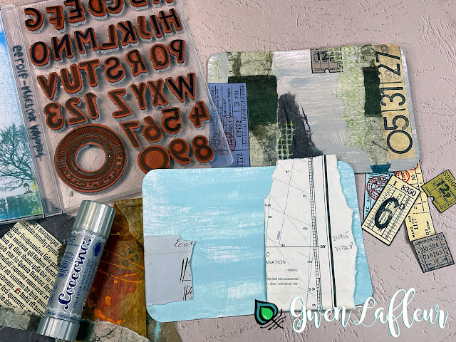 Gwen Lafleur May 2021 PaperArtsy Stamp Release - Project Tutorial Step 2