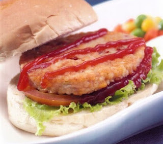 Chicken Burger with Barbeque Sauce Recipe