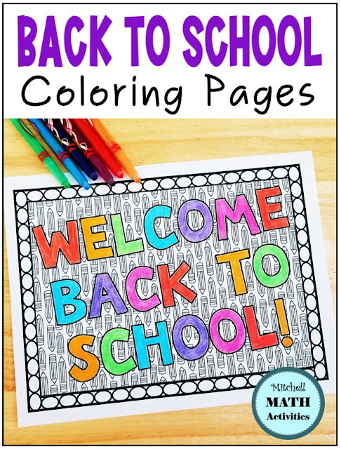 Back to school coloring pages for elementary students