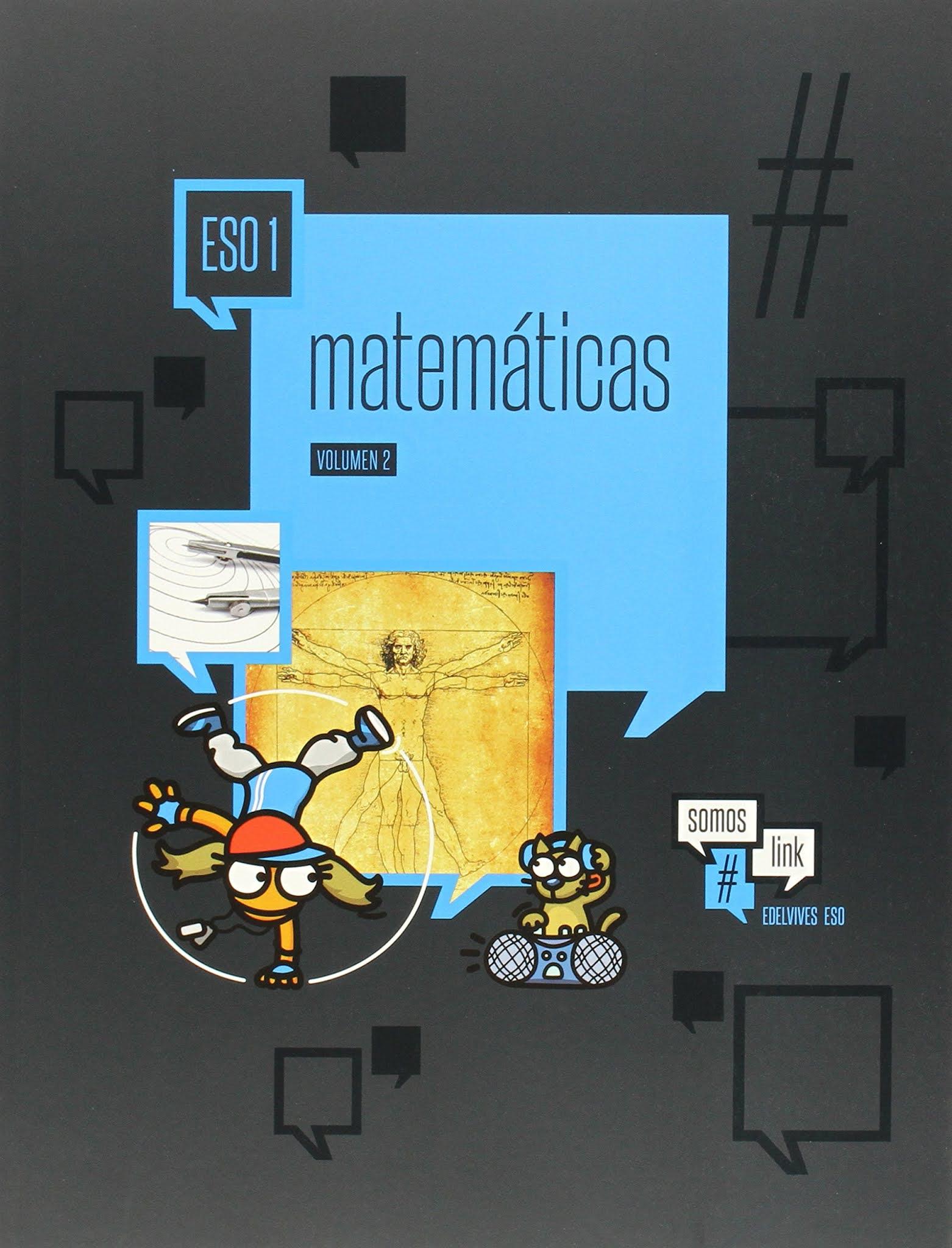 Libro Matemáticas 1º ESO Edelvives Proyecto #somoslink