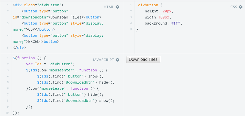 Show, Hide & Toggle a div on Mouseover using JavaScript and