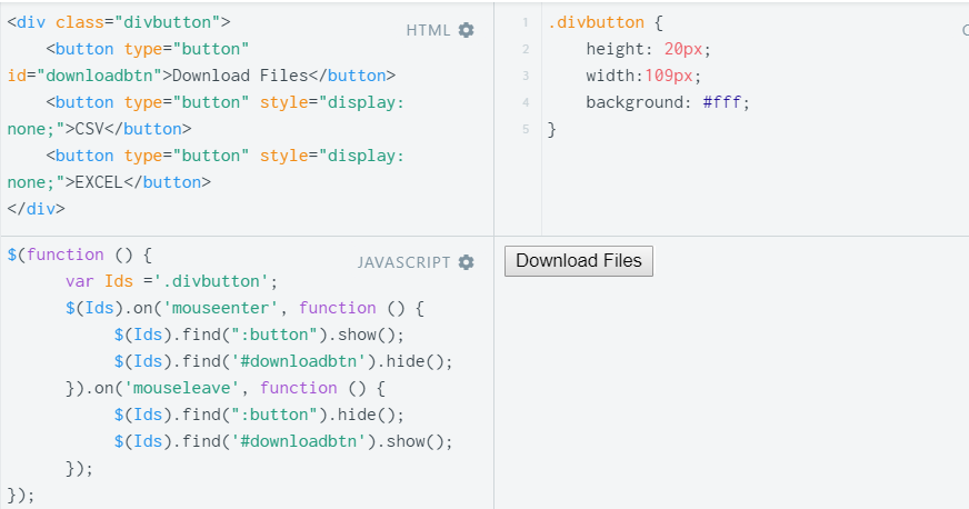 Show, Hide & Toggle a div on Mouseover using JavaScript and jQuery