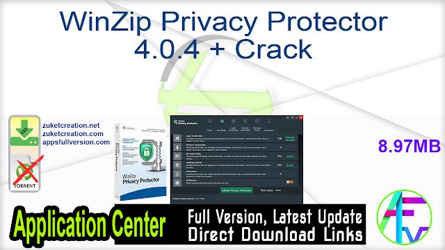 WinZip Privacy Protector 4.0.4 + Crack
