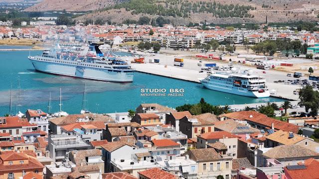 Το Crystal Esprit και το Salamis Filoxenia στο λιμάνι του Ναυπλίου (βίντεο)