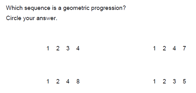 Printables Geometric Sequence Worksheet resourceaholic new gcse sequences the sample assessment materials provide two examples of geometric progression questions this question appeared on aqa paper 2 for both foundation and