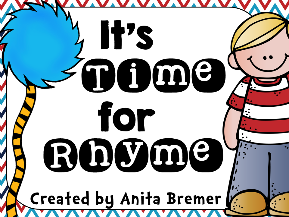 It's Time For Rhyme- perfect to go with Dr. Seuss books!
