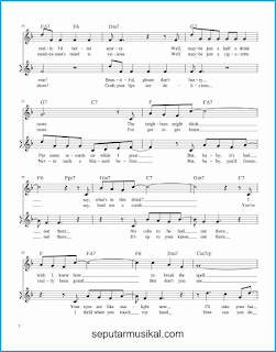 chord baby it's cold outside 2 lagu jazz standar