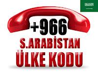 +966Suudi Arabistan ülke telefon kodu