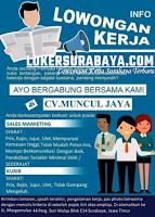 Info Lowongan Kerja di CV. Muncul Jaya Surabaya September 2020