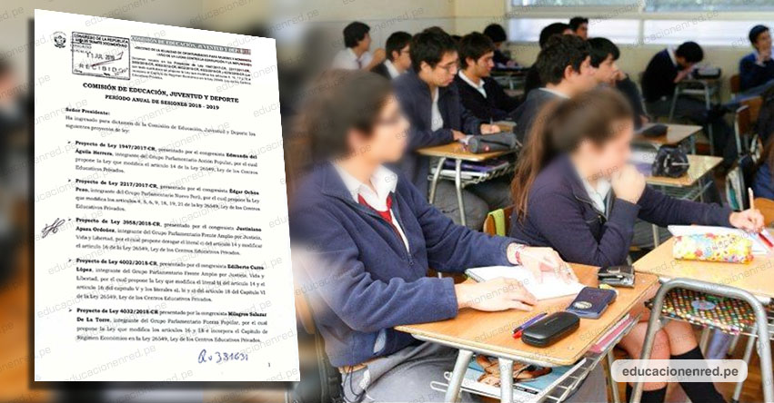 Colegios podrían separar alumnos que deban pensiones por hasta 3 meses, según norma aprobado por unanimidad en la Comisión de Educación del Congreso