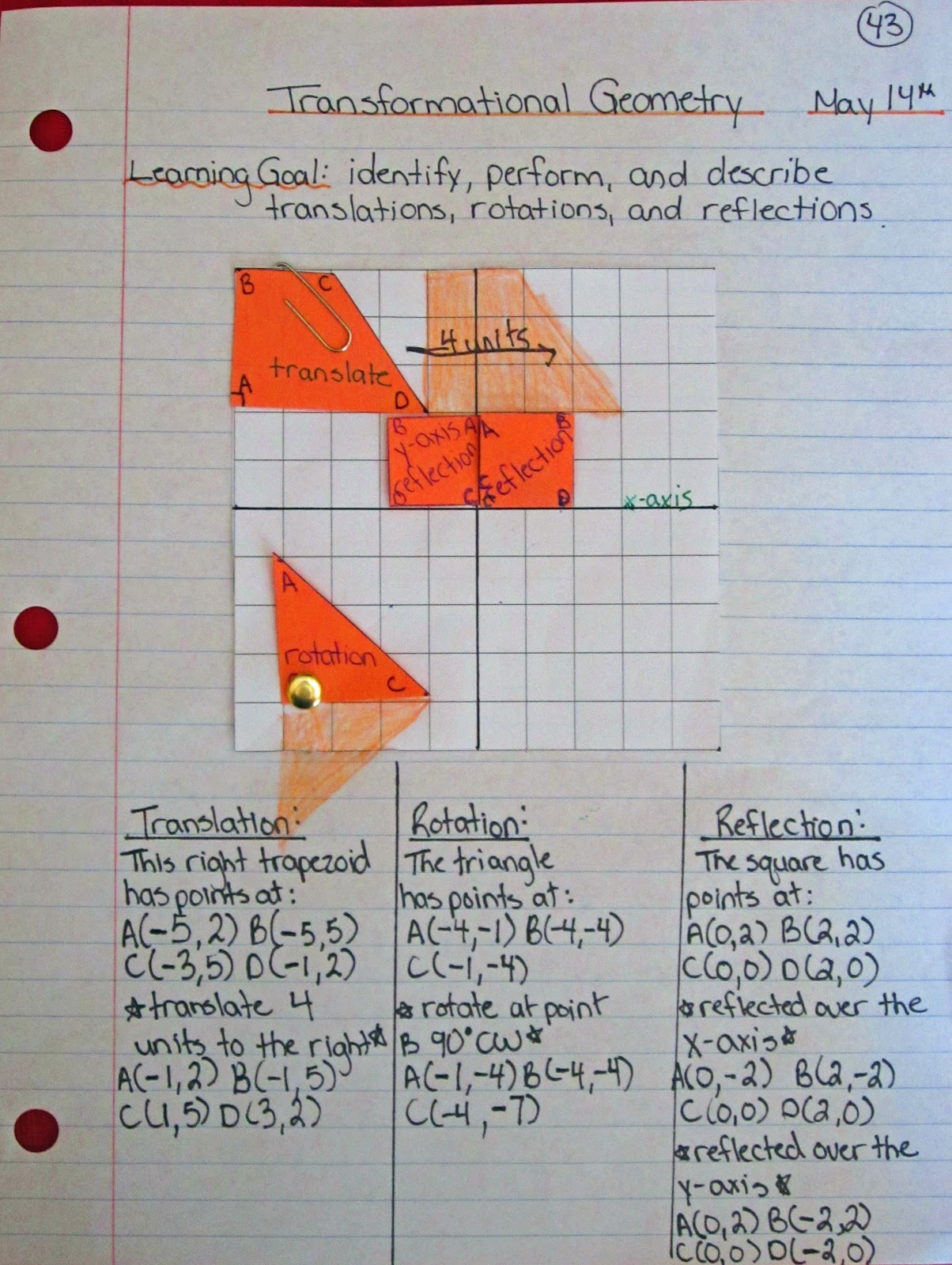 Transformational Geometry Grade 6 Games