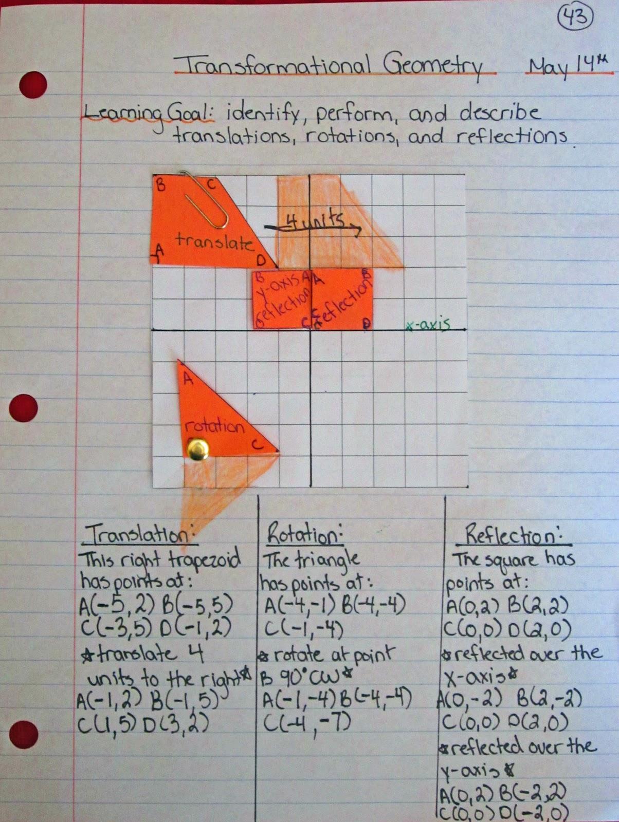 Transformational Geometry Grade 6 Games
