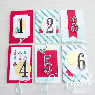 Watercolor Christmas Advent Calendar - Susan Wong for The Crafty Carrot. Co.